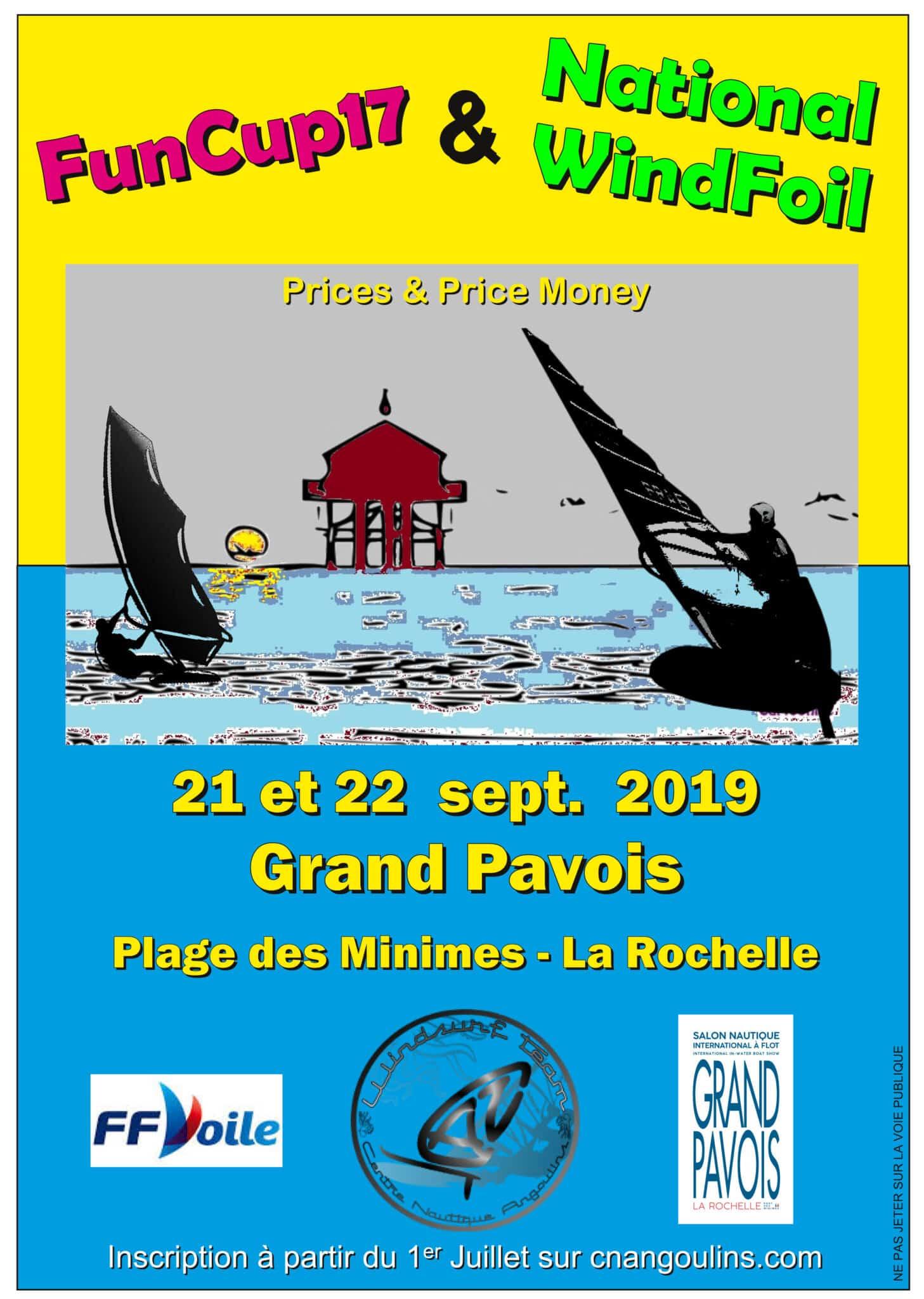 Windfoil 2019 La Rochelle par le Centre Nautique d'Angoulins