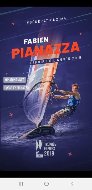 Affiche Meilleur Espoir de la voile 2019 Fabien Pianazza du CNA