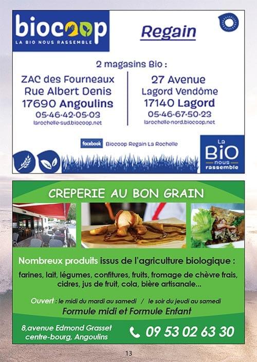 Partenaires du CNA pour le calendrier des Marées Avril 2020 La Rochelle Pallice Ile de Ré Châtelaillon