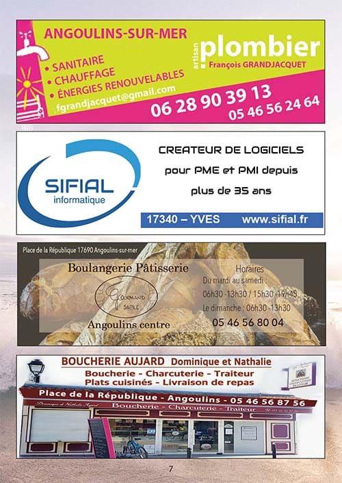 Partenaires du CNA pour le calendrier des Marées Février 2020 La Rochelle Pallice Ile de Ré Châtelaillon