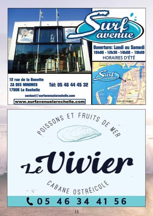 Partenaires du CNA pour le calendrier des Marées Mai 2020 La Rochelle Pallice Ile de Ré Châtelaillon