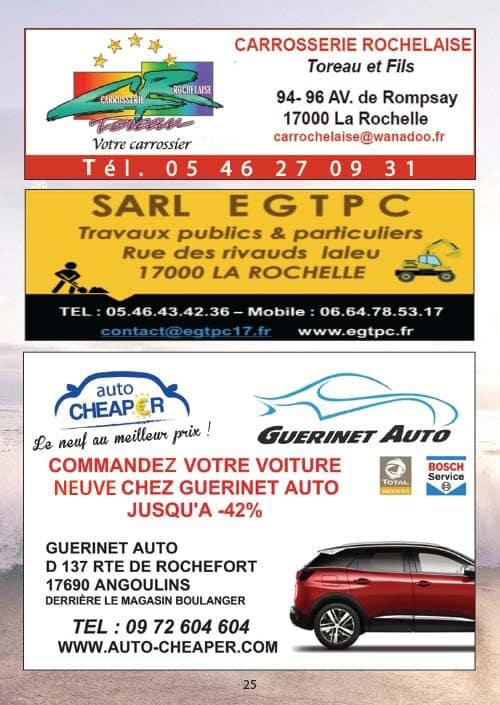 Partenaires du CNA pour le calendrier des Marées Septembre 2020 La Rochelle Pallice Ile de Ré Châtelaillon