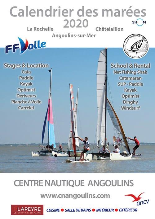 Calendrier des Marées 2020 La Rochelle Chatelaillon Ré Aix Angoulins CNA