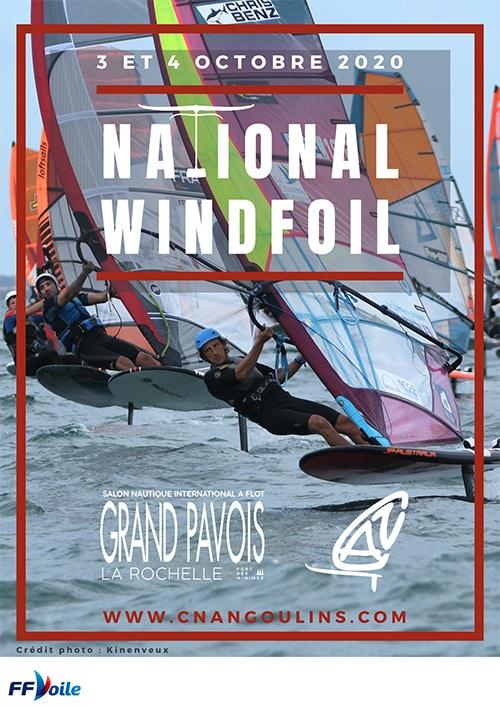 Affiche Officielle National Wind Foil 2020 La Rochelle par le CNA