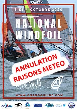 Annulation National WindFoil 2020 La Rochelle