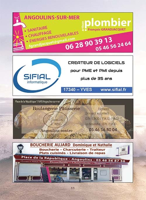 Partenaires du CNA pour le calendrier des Marées Février 2021 La Rochelle Pallice Ile de Ré Châtelaillon