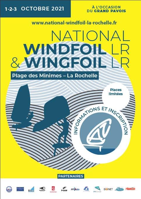 Affiche temporaire national windfoil La Rochelle 2021
