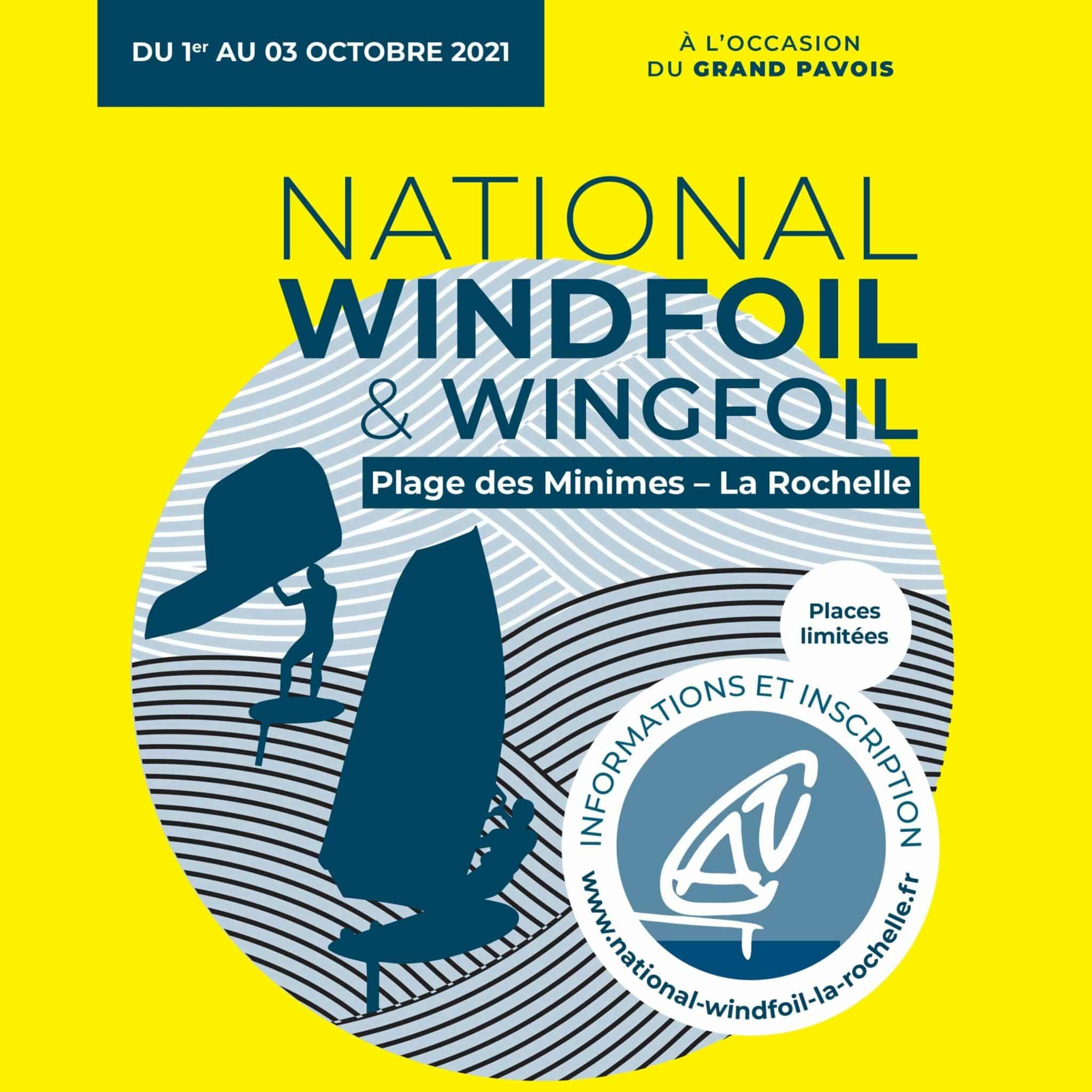 Affiche du National Windfoil et Wingfoil La Rochelle 2021