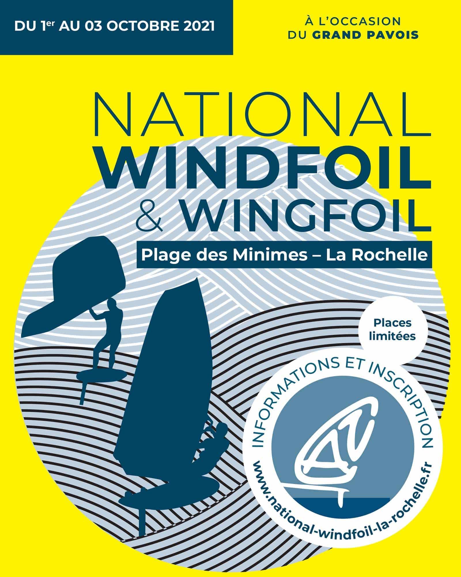 Affiche National Windfoil La Rochelle 2021